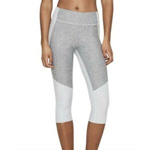 Outdoor Voices Two-toned Cropped Knee Leggings